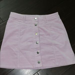 Purple forever 21 mini skirt